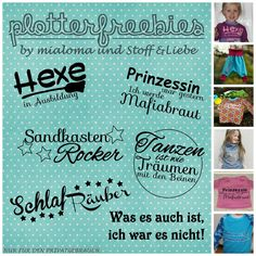 Süße Plotter Freebies Schriftzüge für Kinder- oder Babykleidung