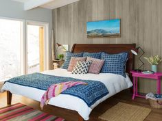To keep the grain of paneling but not the color, rush on gray paint mixed with water, then rub it with a rag. #hgtvmagazine // http://www.hgtv.com/design/decorating/design-101/tour-this-warm-woodsy-welcoming-home-pictures?soc=pinterest