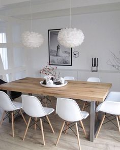 We love the beautiful dining space! Vita Eos lamp available at www.istome.co.uk