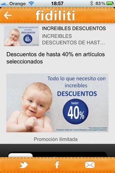 Nueva promoción de Mothercare de hasta el 40% de descuento en fidiliti