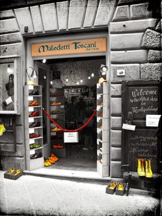 The oldest shop in Montepulciano IT is Maledetti Toscani, an artisan shoe-maker since 1848