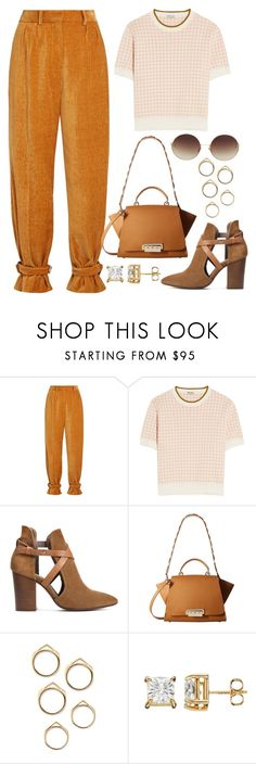"""I know"" by joslynaurora ❤ liked on Polyvore featuring Hillier Bartley, Miu Miu, H London, ZAC Zac Posen, Linda Farrow, Boots, sunglasses and pants"