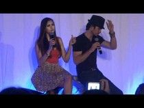 """Vampire Diaries"" stars Ian Somerhalder and Nina Dobrev spoke to fans at the Bloody Night Convention in Barcelona, Spain, on May 5 and gave some scoop on the season finale. #examinercom"