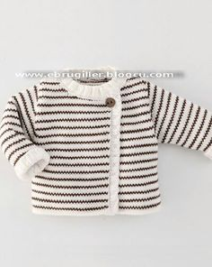 striped baby sweater