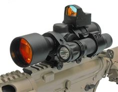 Get the total package for your tactical rifle!  Comes complete with everything you need.  3-9x42 compact scope with illuminated reticle for long range precision. Mini Red Dot reflex sight for quick reaction shooting. 3 Watt 65 Lumen LED Tactical Light.  Includes both tailcap switch and remote pressure switch along with picatinny mount. Tactical scope rings with picatinny accessory platforms.