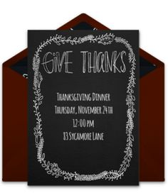 Online Invitations From  Thanksgiving Invitation Thanksgiving