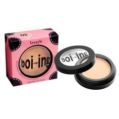 Benefit - Most awesome concealer I've ever used. They say it's industrial strength, and they mean it!