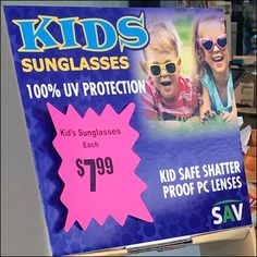 Do it yourself in store vision test diy and industrial chic in even kids need to be cool looking so target the market with kids sunglasses via corrugated display size low youthful shoppers can grab n go as they pass solutioingenieria Choice Image