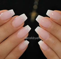 Subtle French fade nails