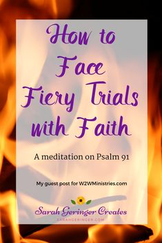 The only way to move forward when we face fiery trials is to cling to the truths in God's Word. Christian Post, Christian Living, Christian Faith, Christian Women, Women Of Faith, Faith In God, Faith Bible, Hope In Jesus, Christian Meditation