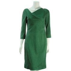 Oscar de la Renta Kelly Green Asymmetrical Dress - $299.99