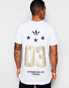 adidas Originals Star T-Shirt With Dipped Back Hem AJ7167 at asos.com c670a59fb52ef