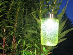Solar powered lights for the campsite