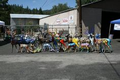 """Herd Gathering"" Idyllwild Deer Sighting Public Art Project, C them in their locations Oct 12, 2013 at our Art Walk & Wine Tasting."