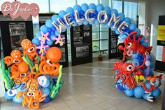 Balloon decorations for weddings, birthday parties, balloon sculptures in Kuching and Sibu, Sarawak: December 2014 Balloon Decorations Party, Birthday Party Decorations, Party Themes, Birthday Parties, Ideas Party, Underwater Theme Party, Underwater Birthday, Balloon Birthday, Balloon Arch