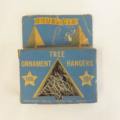 Vintage box set Christmas ornament hanger hooks by Double Glo by thevintageelf, $12.00