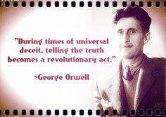 One if my favorite quotes ! Pretty Words, Beautiful Words, Wise Quotes, Inspirational Quotes, George Orwell Quotes, British Literature, Reality Check, Meaningful Words, Quote Posters