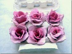 Tutorial Rose con il cartone delle uova - RICICLO!