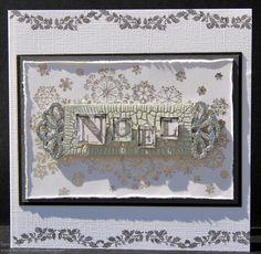 Christmas Card made with Indigoblu Noel Christmas Stamp