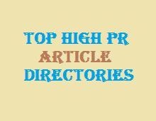 High pr article submission sites list top for 2015 to be used for the link building purpose with the desired anchor text.