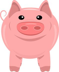 Free clipart, transparent background, png 300 dpi, cute pig. Perfect for scrapbooking, card making, printable. Copyright free.