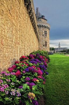 Medieval wall of Vannes, Brittany, France by Dave Mills.  The city is 2,000 years old.