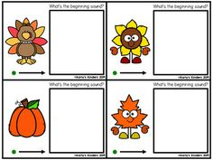 Playdough Thanksgiving Sounds (Beginning Sound, Medial Sound, Final Sound) Small Group Activities, Holiday Activities, Preschool Activities, School Resources, Teaching Resources, Beginning Sounds, Early Finishers, Little Learners, Learning Games