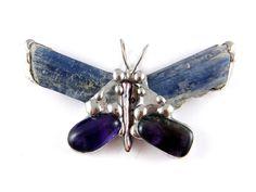 Wisior: Motyl niebiański - Patrycja-Baran - Broszki
