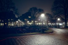 A foggy evening on the Pastoorbrug in Amsterdam | John Cavacas Photography