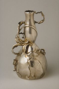Vase, ca. 1896  Designer: Philippe Wolfers (Belgian, 1858-1929) by Phillpe Wolfers & Wolfers Freres  Belgian (Brussels)  Silver, partly gilded