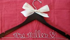 Personalized Bridal Hanger Wedding Dress Hanger by twobroadsdesign, $18.00