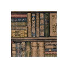 """Illusions 32.7' x 20.5"""" Bookcase Wallpaper"""