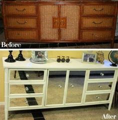 Before you send that chipped, outdated or damaged piece of furniture to the trash, consider a quick and easy update with a fresh coat of paint. Not only is repainting a piece of furniture quick and easy, it's also a thrifty design solution to keep your next room redo budget in check.