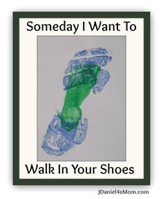 Dads will love this one! Footprint #Preschool #FathersDay Craft from JDaniel4's Mom at B-InspiredMama.com. #kidscrafts