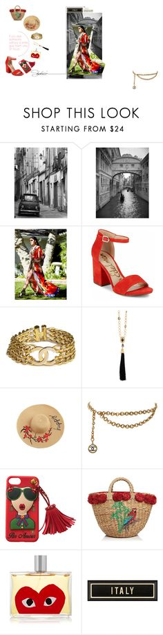 """Shahida Parides: Summer Travels to ITALY"" by orangeandmore on Polyvore featuring Sam Edelman, Chanel, Oscar de la Renta, Serpui, Comme des Garçons and Oliver Gal Artist Co."