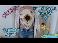 How to Crochet a Party Halter Top / Tank Pattern #161│by ThePatternFamily - YouTube