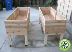 Jumbo Portable Elevated Planter, Design Two by Living Green Planters, Various Placement Ideas