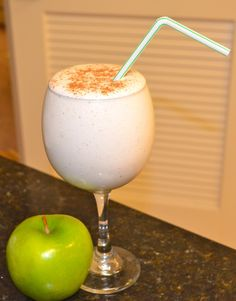 Apple Pie Protein Fluff- Best shake ever Soy Milk Nutrition, Grape Nutrition, Best Nutrition Apps, Nutrition Guide, Protein Powder Recipes, Vanilla Protein Powder, Protein Foods, Protein Smoothies, Whey Protein