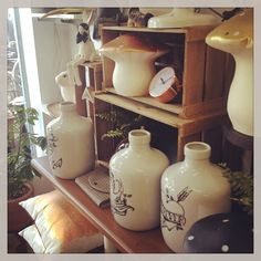 Summery copper and gold store display at Blue Star Elements, an eclectic gift shop in Newcastle, NSW Australia