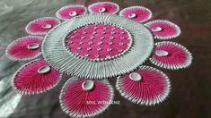 Easy Rangoli Designs Diwali, Rangoli Designs Flower, Rangoli Patterns, Colorful Rangoli Designs, Rangoli Ideas, Flower Rangoli, Beautiful Rangoli Designs, Rangoli Designs Simple Diwali, Diwali Special Rangoli Design