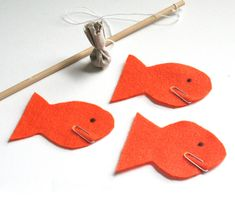 Gone Fishing- such a cute game for toddlers and preschoolers - easy think I might make it tonight for TT Toddler Fun, Toddler Preschool, Toddler Crafts, Toddler Activities, Toddler Art Projects, Projects For Kids, Crafts For Kids, Arts And Crafts, Fish Crafts