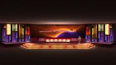 Stage Backdrop Design, Stage Set Design, Staging, Backdrops, Branding, Neon Signs, Conference, Scene, Decorations