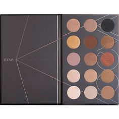 ZOEVA Nude Spectrum Eyeshadow Palette found on Polyvore featuring beauty products, makeup, eye makeup, eyeshadow, zoeva, zoeva eyeshadow and palette eyeshadow