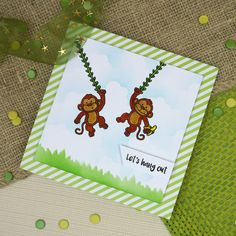 For the Love of Stamps - Cheeky Monkeys | Hunkydory Crafts
