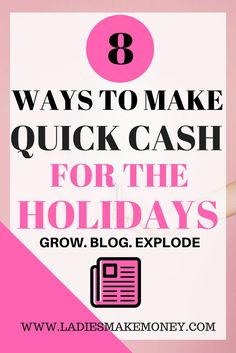 10 Ways to make quick cash for the Holidays. Christmas can be extremely expensive and we found ways to make money for the holidays. Make Easy Money, Make Money Blogging, Money Tips, Money Saving Tips, Make Money Online, Quick Money, Christmas On A Budget, Christmas Crafts, Quick Cash