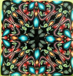 Starflower Polymer Clay Square Kaleidoscope Cane by ikandiclay, $16.00