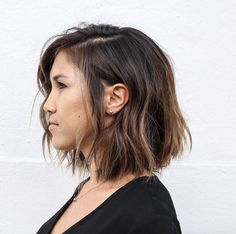 Side-parted stringy bob by Population Salon