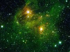 Polycyclic Aromatic Hydrocarbons In Space----Emerald Green Beauty