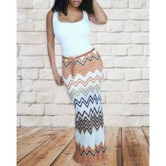 Wholesale Sexy Square Neck Sleeveless Chevron Printed Bodycon Maxi Dress For Women Only $9.25 Drop Shipping | TrendsGal.com