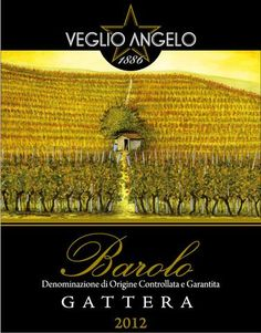 Angelo Veglio Barolo Gattera 2012 Wine Labels, Italy, Movie Posters, Movies, Collection, Art, Craft Art, Wine Tags, Italia